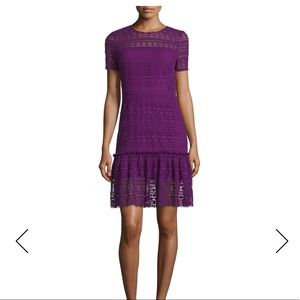 Elie Tahari Purple Jacey Crocheted Lace Dress 2